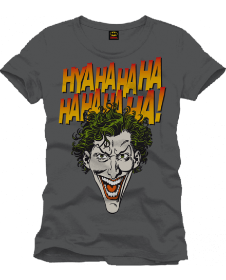Tee-Shirt Gris Joker Face Haha Batman
