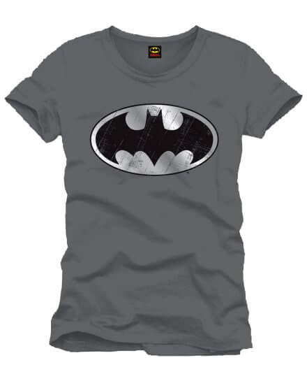 Tee-Shirt Gris Logo Argent Batman