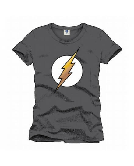 Tee-Shirt Gris Logo Flash