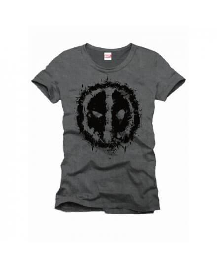 Tee-Shirt Gris Splashead Deadpool
