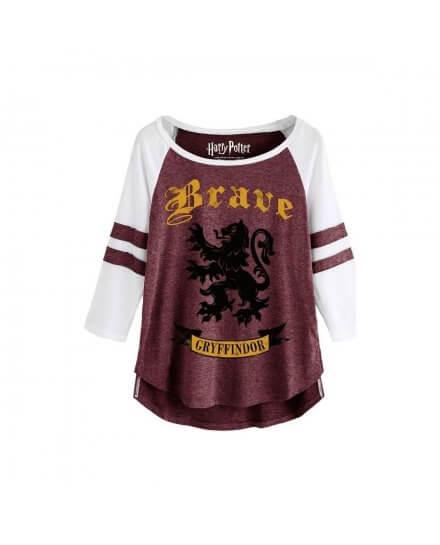 Tee-Shirt Harry Potter Femme Brave Gryffindor