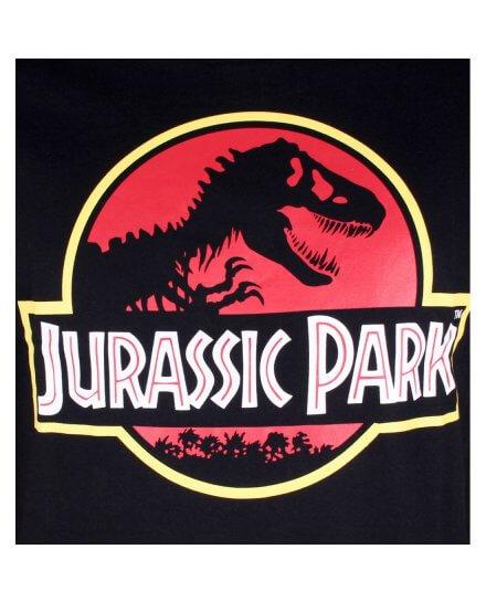 Tee-Shirt Homme Noir Classic Logo Jurassic Park