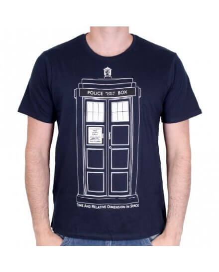 Tee-Shirt Homme Tardis Draw Doctor Who