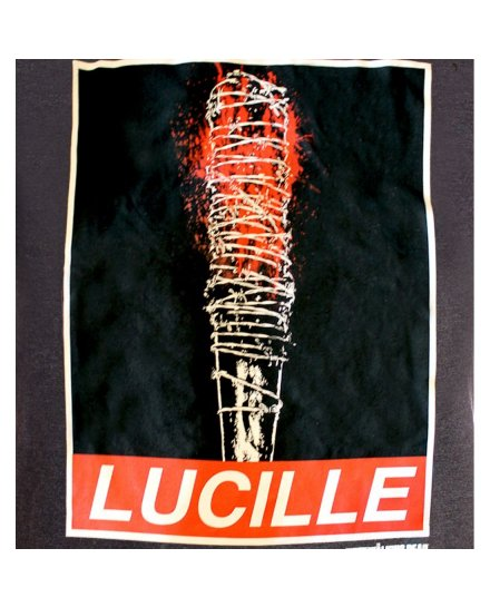 Tee-Shirt Lucille Obey Rules The Walking Dead