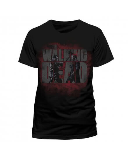 Tee-Shirt Noir Axed Zombie The Walking Dead