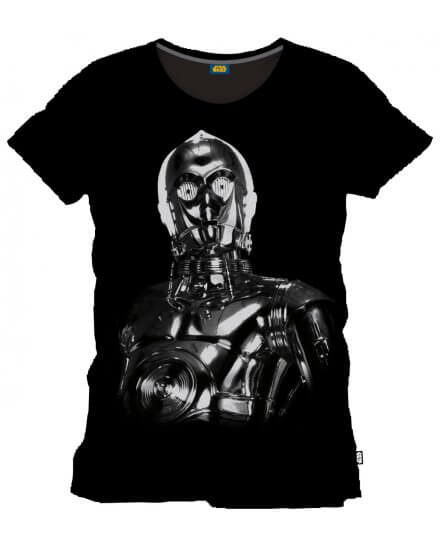 Tee-Shirt Noir Big C-3PO Star Wars