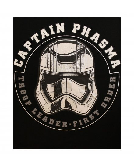 Tee-Shirt Noir Captain Phasma Helmet Star Wars