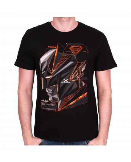 Tee Shirt Noir Cubic Head Batman