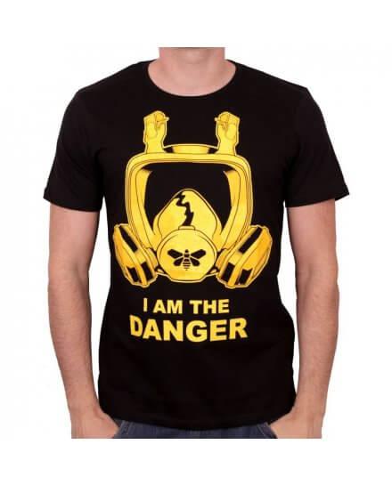 Tee-Shirt Noir Casque I Am The Danger Cook Breaking Bad