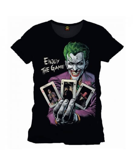 Tee Shirt Noir Enjoy the Game Joker Batman