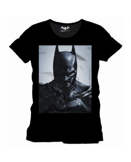 Tee Shirt Noir Face Arkham Origins Batman