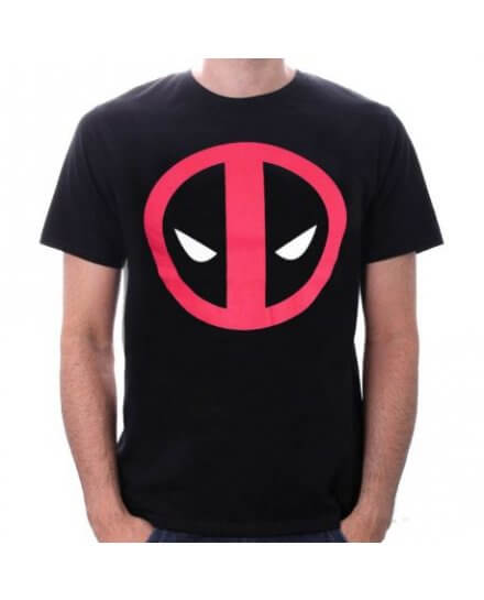 Tee-Shirt Noir Logo Deadpool