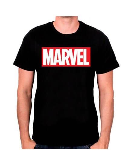 Tee-Shirt Noir Logo Marvel