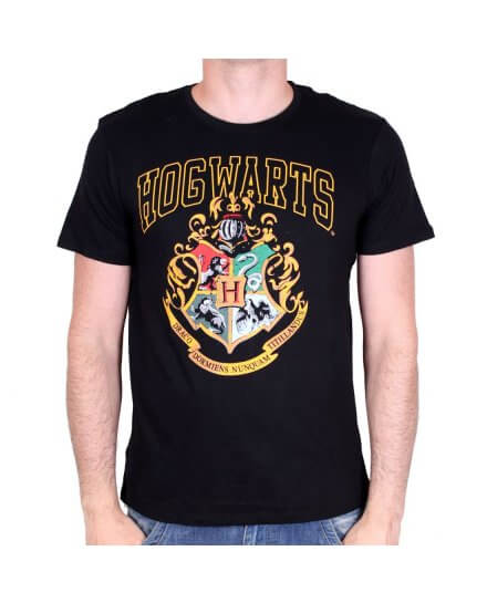 Tee-Shirt Noir Poudlard Harry Potter