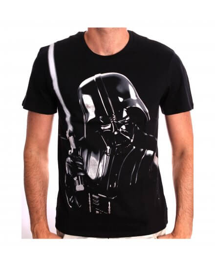 Tee-Shirt Noir Silver Dark Vador Star Wars