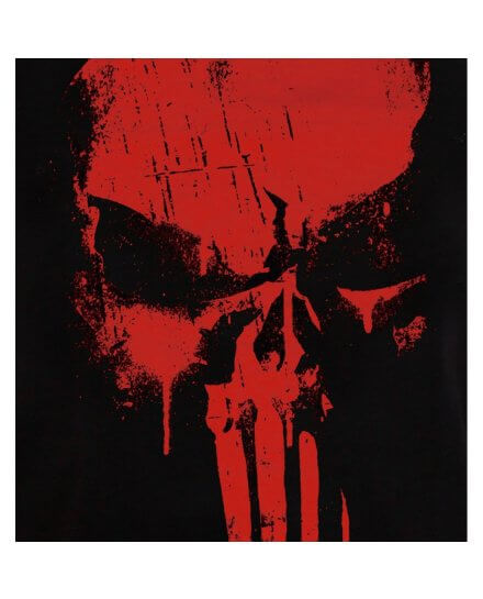 Tee-Shirt Noir Skull Rouge Punisher