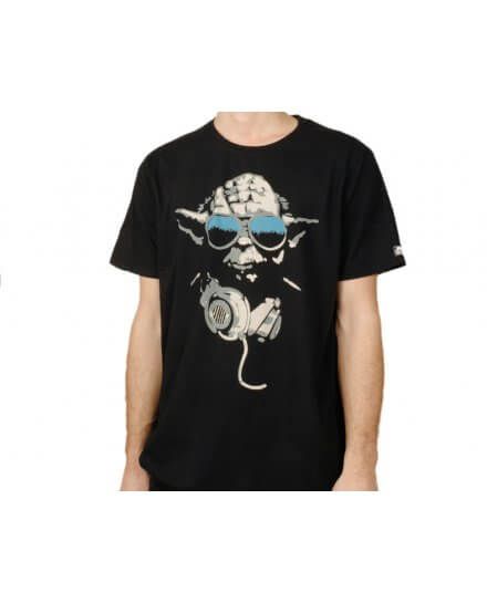 Tee-Shirt Noir Yoda Cool Star Wars