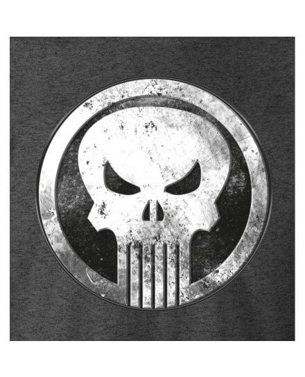 Tee-Shirt Punisher Gris Logo blanc vintage