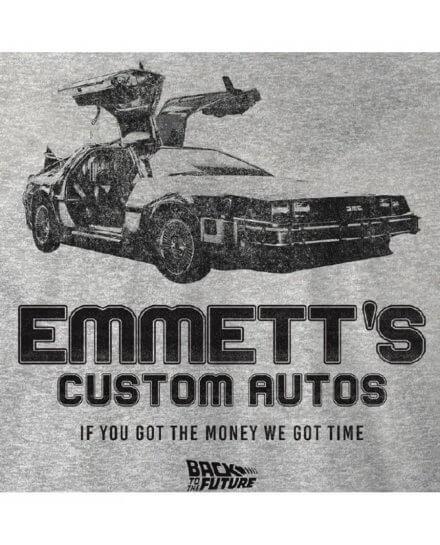 Tee-Shirt Retour vers le futur gris Emmett's