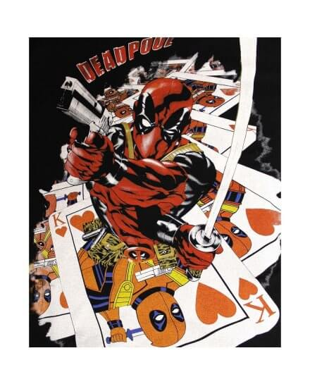 Tee-Shirt Roi de Coeur Deadpool