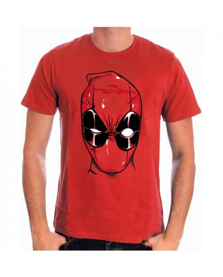 Tee-Shirt Rouge Head Deadpool
