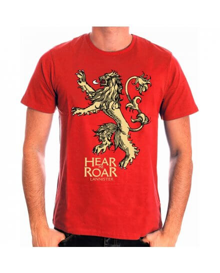 Tee-Shirt Rouge Hear Me Roar Game of Thrones