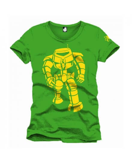 Tee-Shirt Rouge Vert Yellow Machine The Big Bang Theory