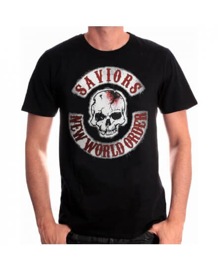 Tee-Shirt Saviors Patches The Walking Dead