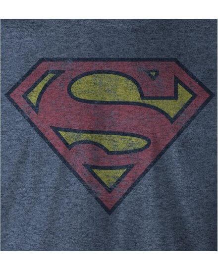 Tee-Shirt Superman Bleu Logo Vintage