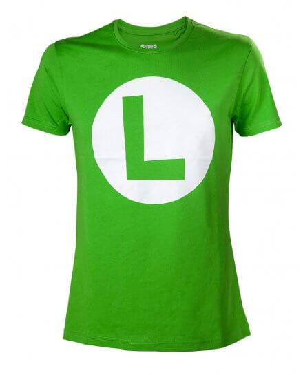 Tee-Shirt Vert Luigi Nintendo