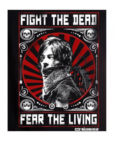 Tee-Shirt Walking Dead Daryl Fight the dead