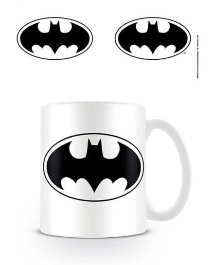 Mug Blanc Logo Noir Batman