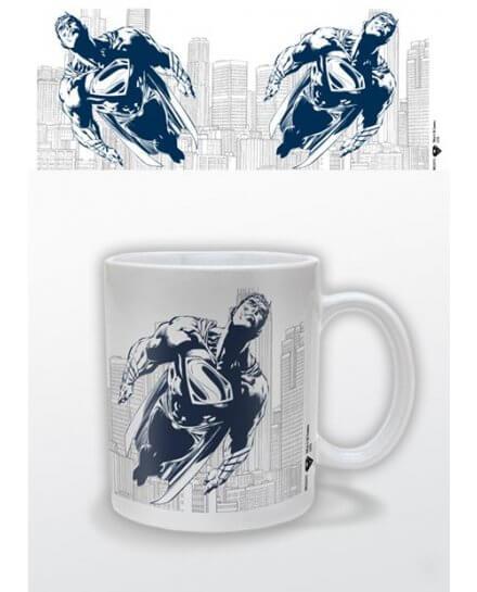 Mug Blanc Man of Steel Bleu Superman