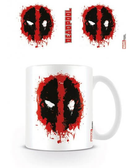 Mug Blanc Splat Deadpool