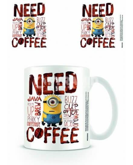 Mug Need Cofee Minion Moi Moche et Méchant