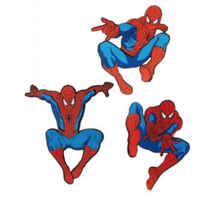 Pack de 3 Stickers 32 cm X 25 cm Spiderman