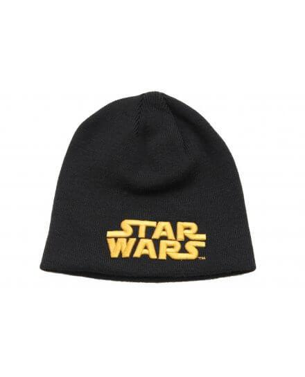 Bonnet Noir Gold Logo Texte Star Wars