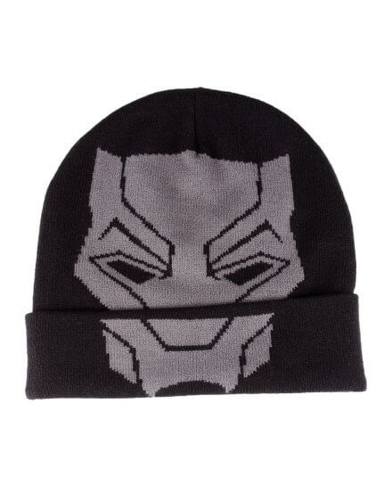 Bonnet noir logo Black Panther