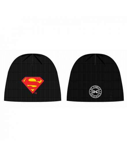 Bonnet Noir Logo Classique Superman