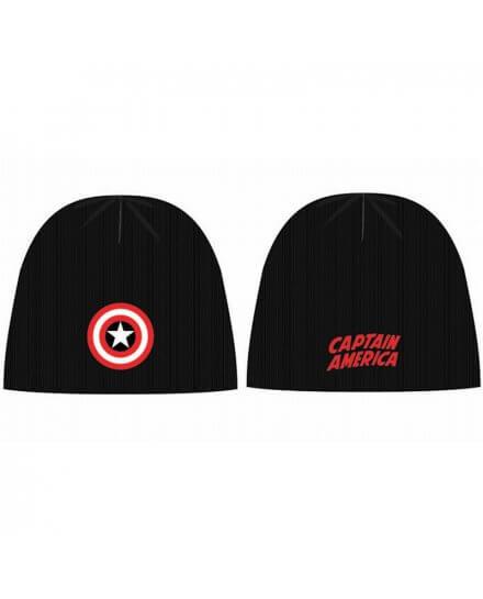 Bonnet Noir Shield Logo Captain America