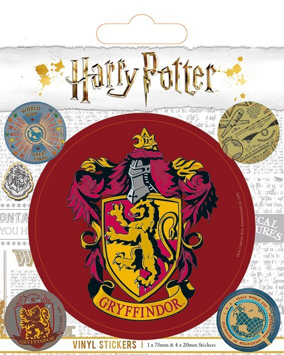 Pack De 5 Stickers Harry Potter Gryffondor Vintage 4309
