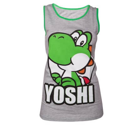 Débardeur Femme Gris Mario Yoshi Nintendo