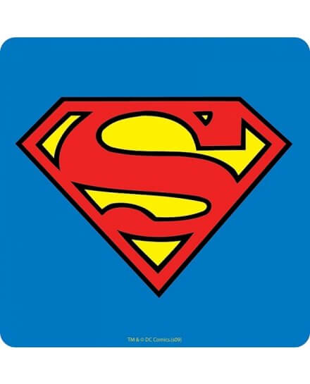 Sous Verre En Liège Logo Superman