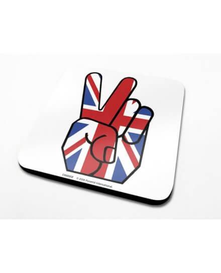 Sous-Verre Union Jack Peace 10 x 10cm Londres