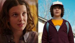 Eleven et Dustin dans Stranger Things