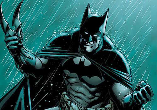 Batman au combat avec son Batarang