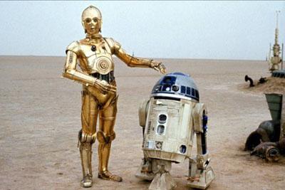 Les droides R2D2 et C3PO