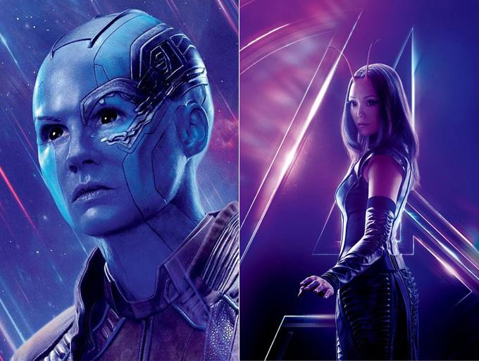 Nebula et Mantis des Gardiens de la Galaxie