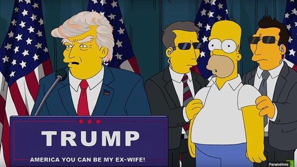 Prédiction des Simpsons de l'élection de Trump